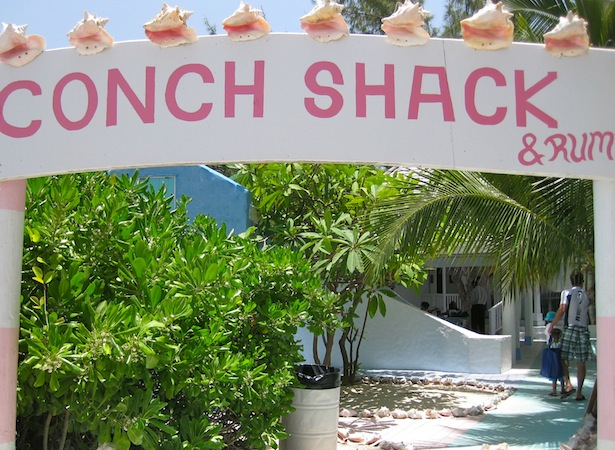 Entrance to Da Conch Shack in Turks and Caicos