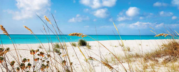 photo of secluded white sand beach in turks and caicos