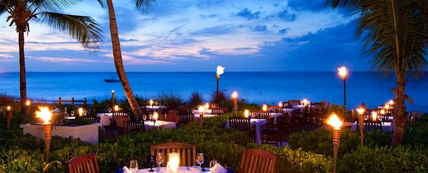Beachfront Dining in Turks and Caicos Anacaona Grace Bay