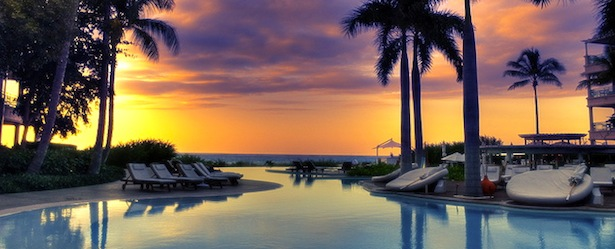 Regent Palms Turks and Caicos Pool Sunset