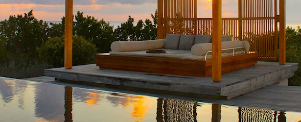 Infinity Pool at Amanyara Turks and Caicos Sunset