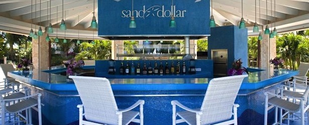 Seven-Stars-Resort-Providenciales-bar Sand Dollar pool bars in turks and caicos