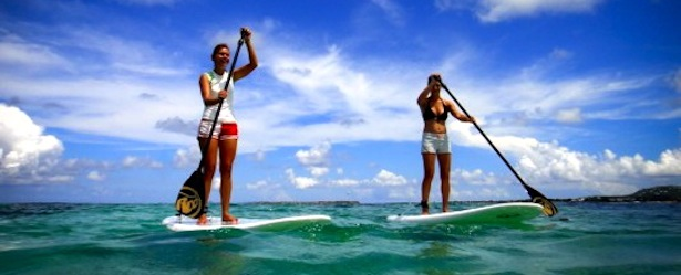 Paddleboarding at Turks and Caicos