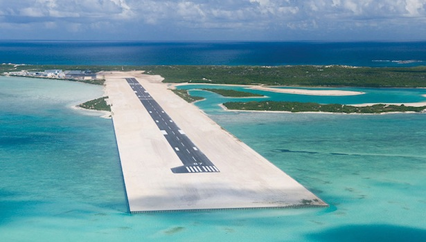 Turks and Caicos Airstrip at Ambergris Cay