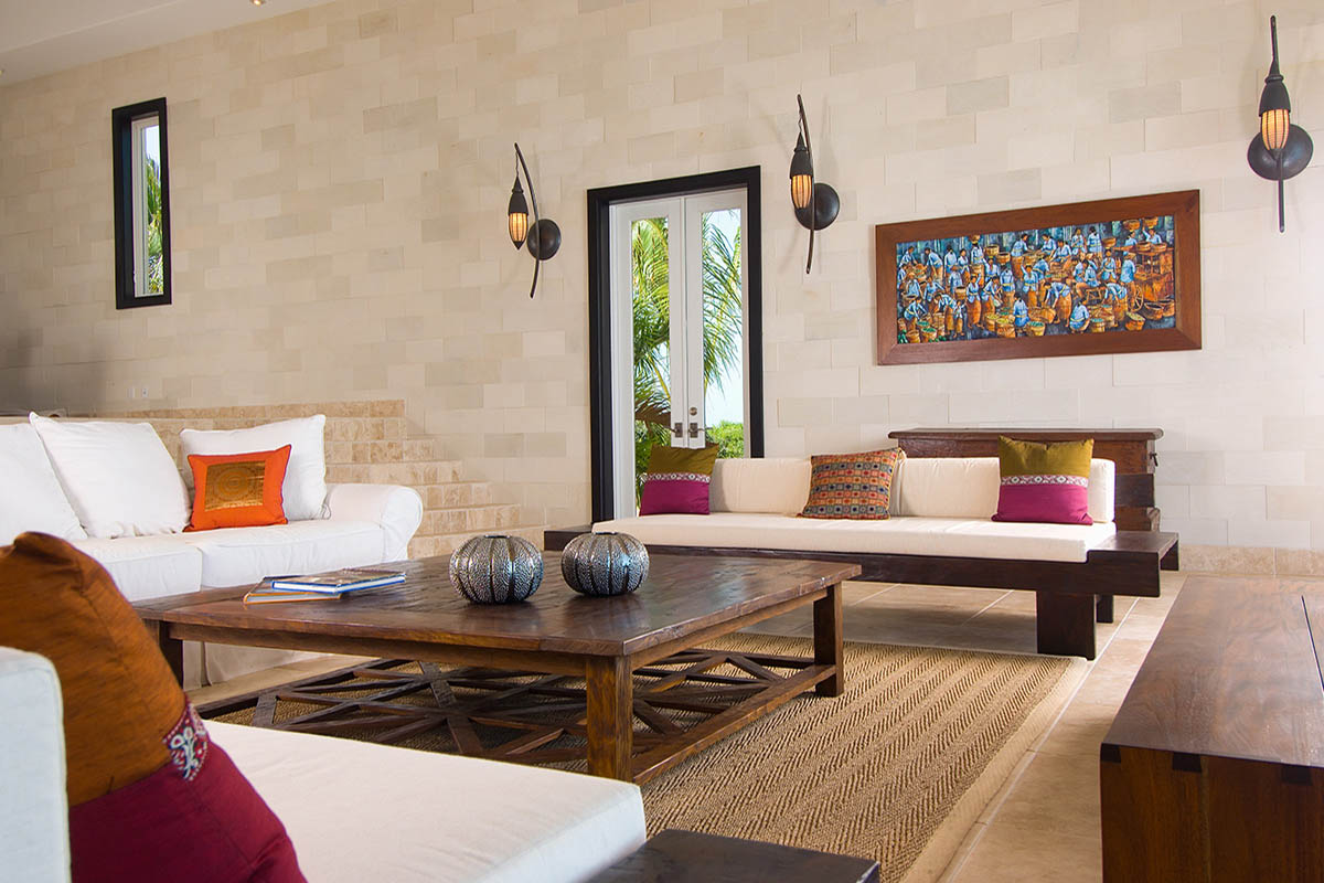 Balinese villa myturks and caicos - Living room designs pictures ...